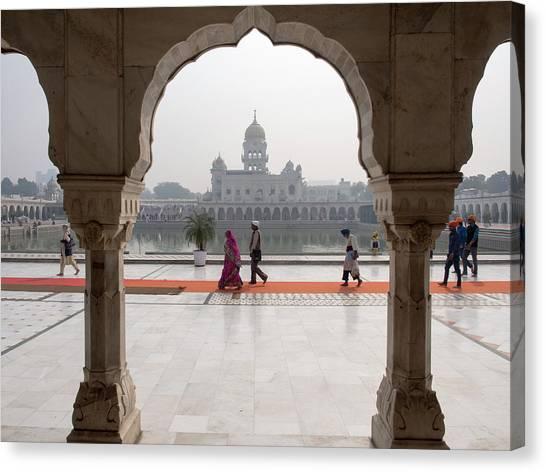 Sikh Canvas Print - Gurudwara Bangla Sahib, New Delhi, India by David H. Wells