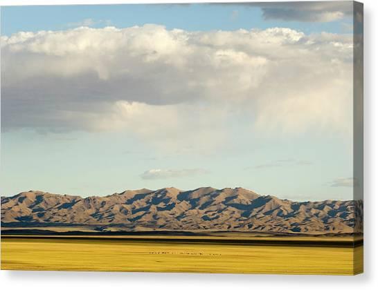 Gobi Desert Canvas Print - Gurvan Saikhan Mountains, Gobi National by Ted Wood