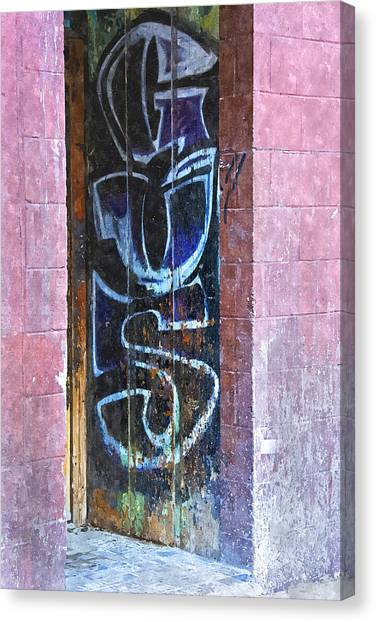 Graffiti Walls Canvas Print - Gus by KM Corcoran