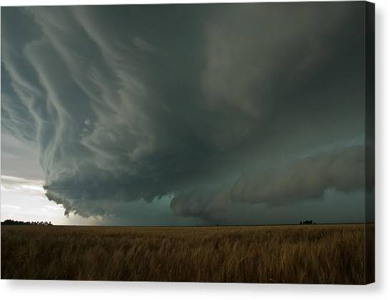 Hailstorms Canvas Print - Gust Front by Brandon  Ivey