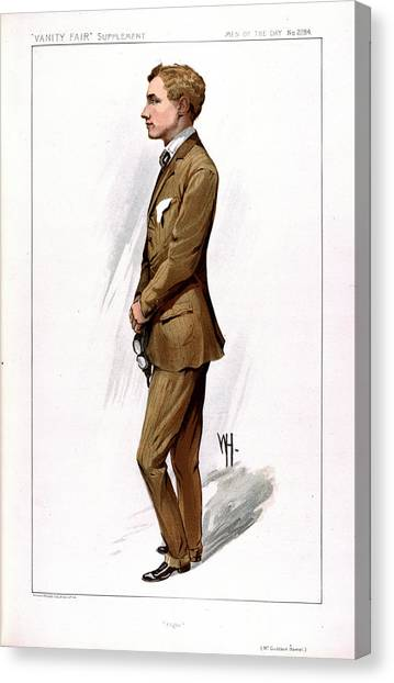 Hamels Canvas Print - Gustav Hamel by British Library