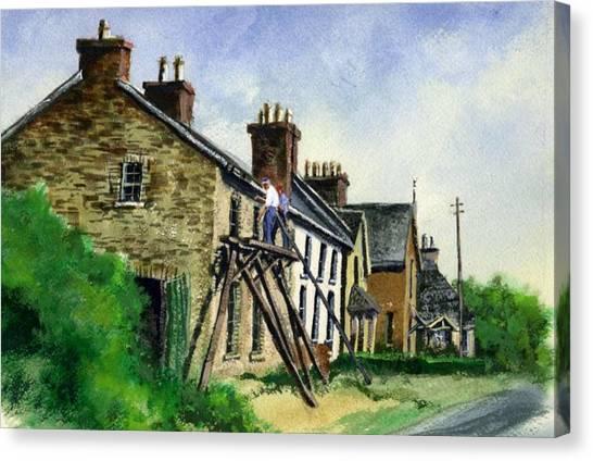 Canvas Print - Gutter Repair Port Rush Ireland by Jim Gola