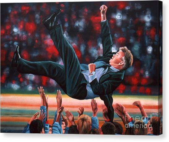 Goal Canvas Print - Guus Hiddink by Paul Meijering