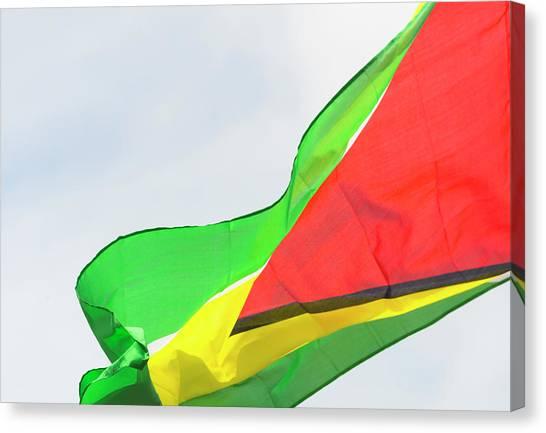 Georgetown University Canvas Print - Guyana National Flag, Georgetown by Keren Su