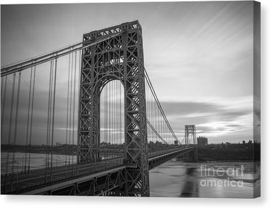 Gw Bridge Winter Sunrise Canvas Print
