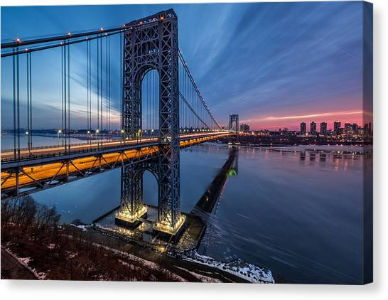 Gwb Sunrise Canvas Print