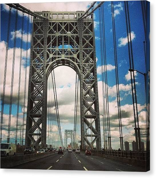 George Washington Canvas Print - Gw Bridge by Cheryl Fallon