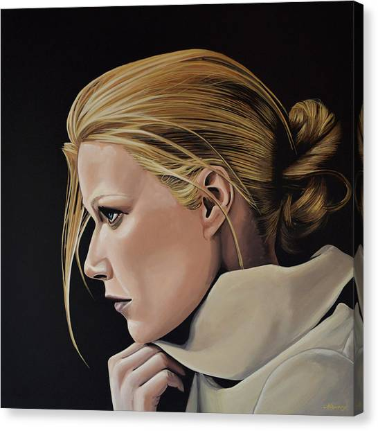 Avengers Canvas Print - Gwyneth Paltrow Painting by Paul Meijering