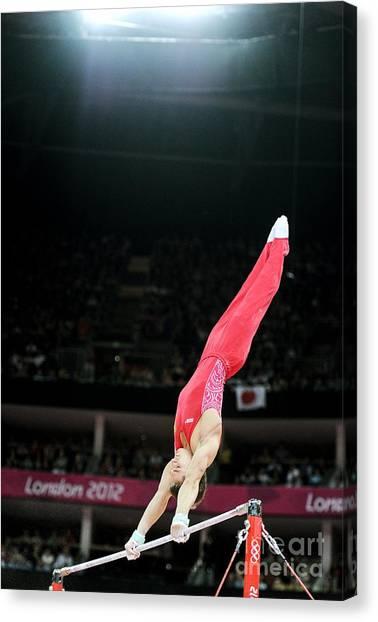 Gymnast On High Bar, London 2012 by Ria Novosti