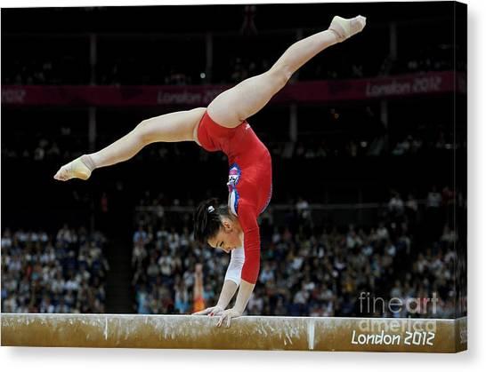 Balance Beam Canvas Print - Gymnast On The Beam, London 2012 by Ria Novosti
