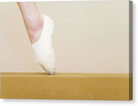 Balance Beam Canvas Print - Gymnast Pointing Her Toes by Gustoimages/science Photo Library