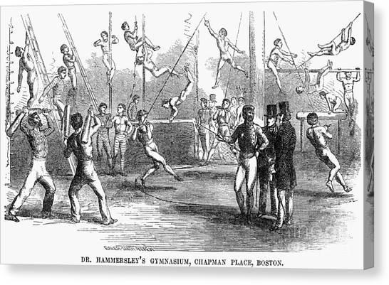 Balance Beam Canvas Print - Gymnastics, 1853 by Granger