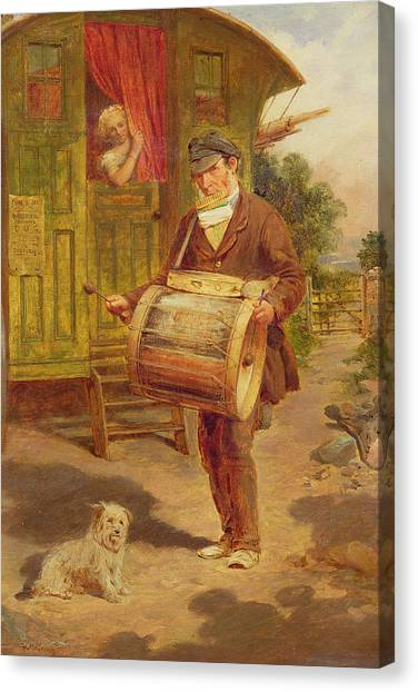 Tambourines Canvas Print - Gypsy Caravan by William Mulready