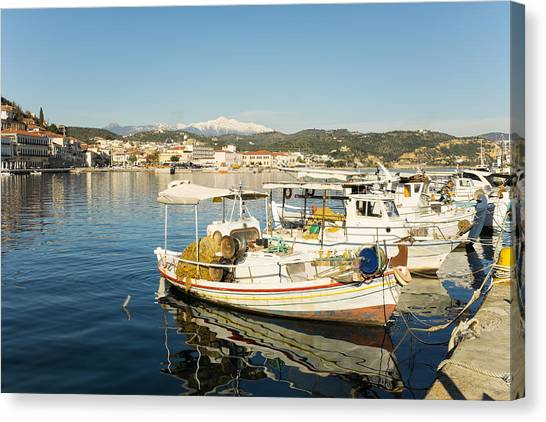 Gytheion Harbour Canvas Print