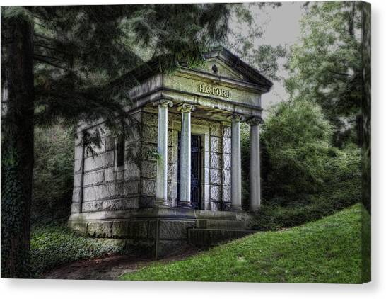 Vault Canvas Print - H C Ford Mausoleum by Tom Mc Nemar