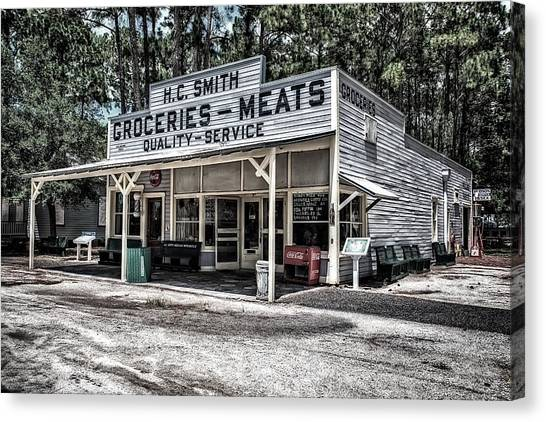 H C Smith's Groceries Heritage Village Canvas Print