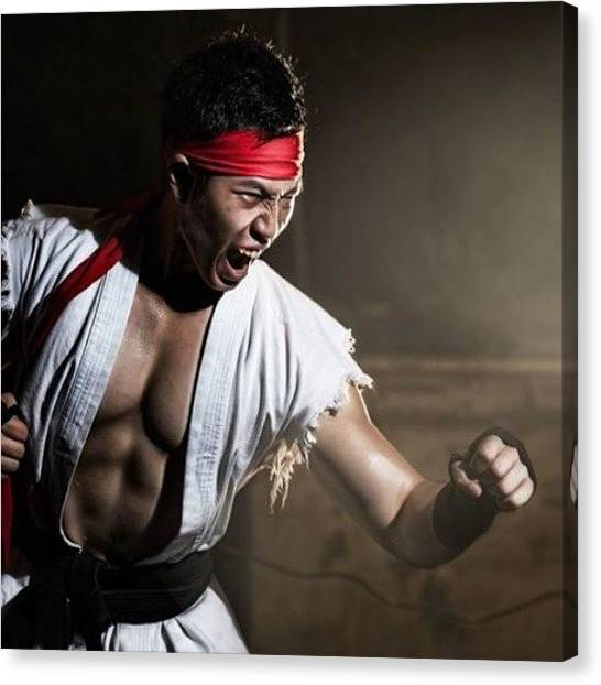 Karate Canvas Print - Haaa... #cosplay #ryu #streetfighter by Trian Wida  Charisma