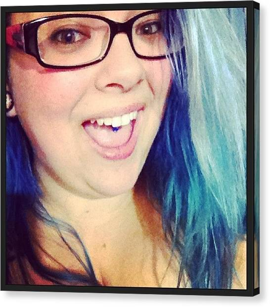 Hammers Canvas Print - Haaaaammerred!!!! #drunkie #selfie by Katrina A