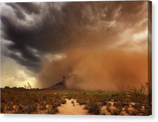 Haboob Is Coming Canvas Print