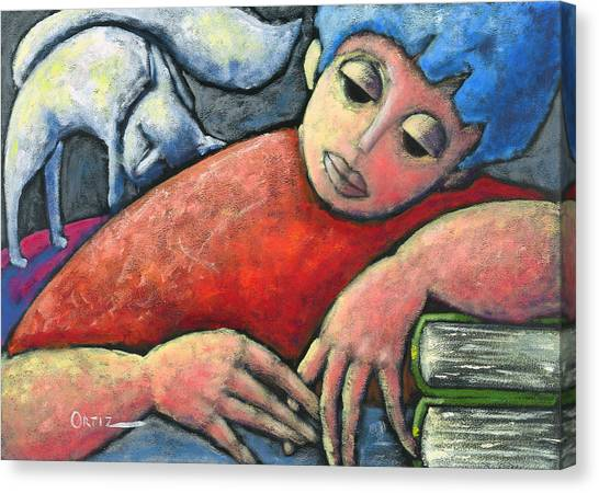 Haciendo Tareas En Mi Cuarto Canvas Print