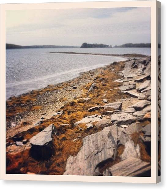 Saws Canvas Print - Had To Do It #maine #love by B Saw
