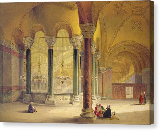 Byzantine Art Canvas Print - Haghia Sophia, Plate 11 The Meme by Gaspard Fossati