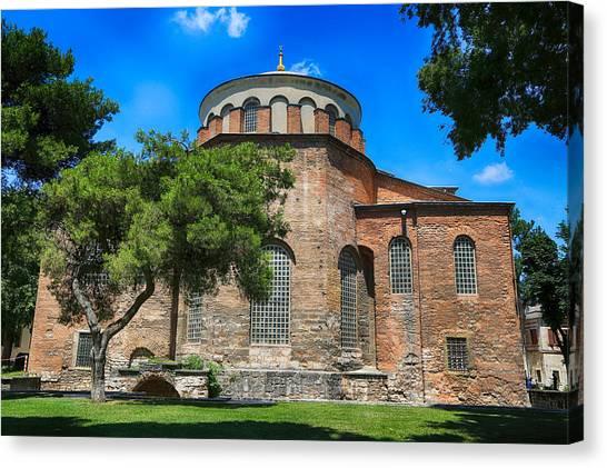 Byzantine Canvas Print - Hagia Irene - Istanbul by Stephen Stookey
