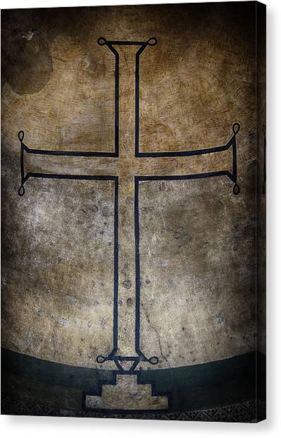 Byzantine Canvas Print - Hagia Irene Cross by Stephen Stookey