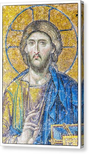 Hagia Sofia Jesus Mosaic Canvas Print