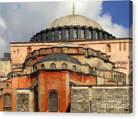Hagia Sophia Ayasofya Meydani Byzantine Basilica Later Imperial Mosque Istanbul Turkey Canvas Print by PIXELS  XPOSED Ralph A Ledergerber Photography