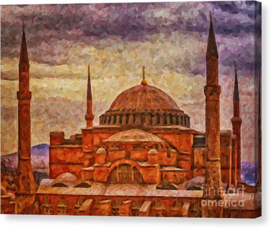 Hagia Sophia Digital Painting Canvas Print