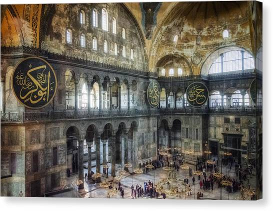 Byzantine Art Canvas Print - Hagia Sophia Interior by Joan Carroll