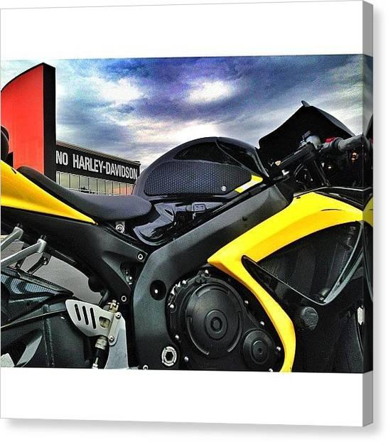 Suzuki Canvas Print - Hahaha Had To Get This Shot. The no by James Crawshaw