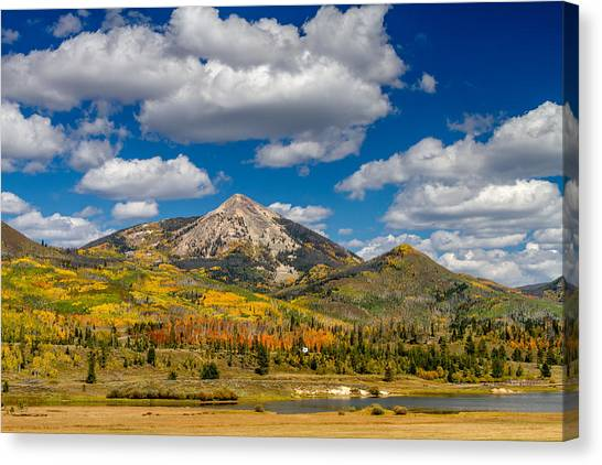 Hahn Peak And Steamboat Lake State Park Canvas Print