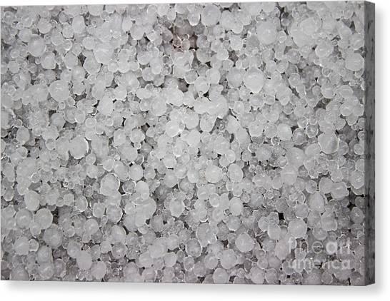 Hailstorms Canvas Print - Hail by Deanna Proffitt