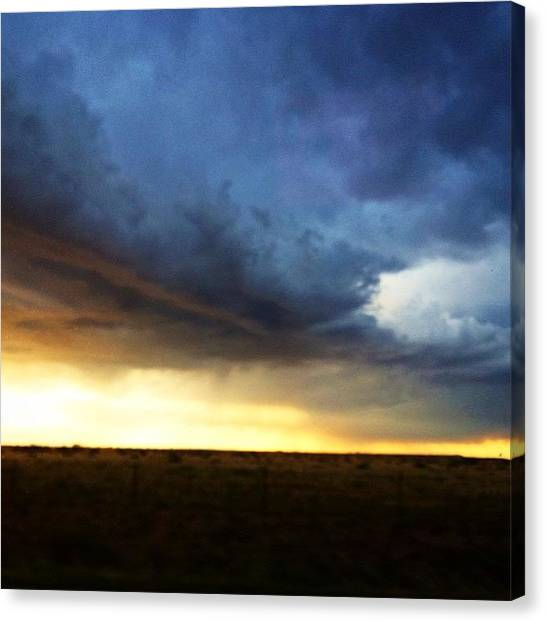 Hailstorms Canvas Print - Hail Storm To The West  by Star Rodriguez