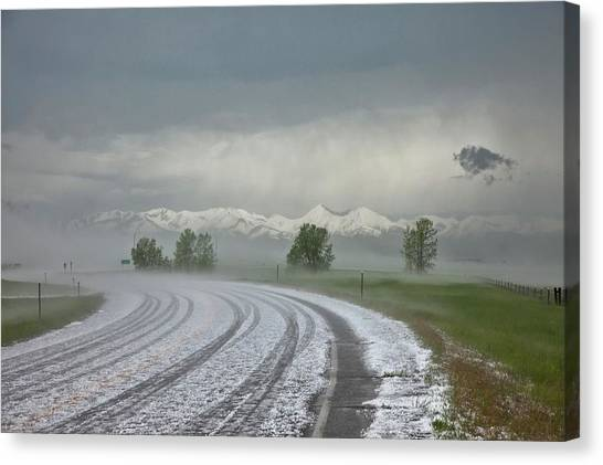 Hailstorms Canvas Print - Hailstones And Mountains by Roger Hill/science Photo Library