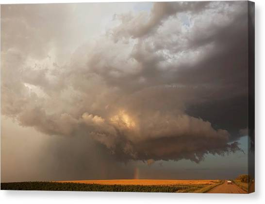 Hailstorms Canvas Print - Hailstorm Over Fields by Roger Hill/science Photo Library