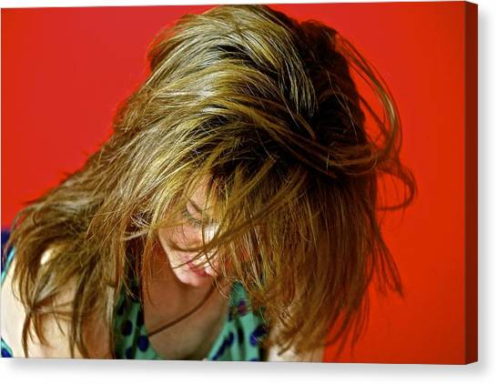 Hair Canvas Print by Roberto Galli della Loggia