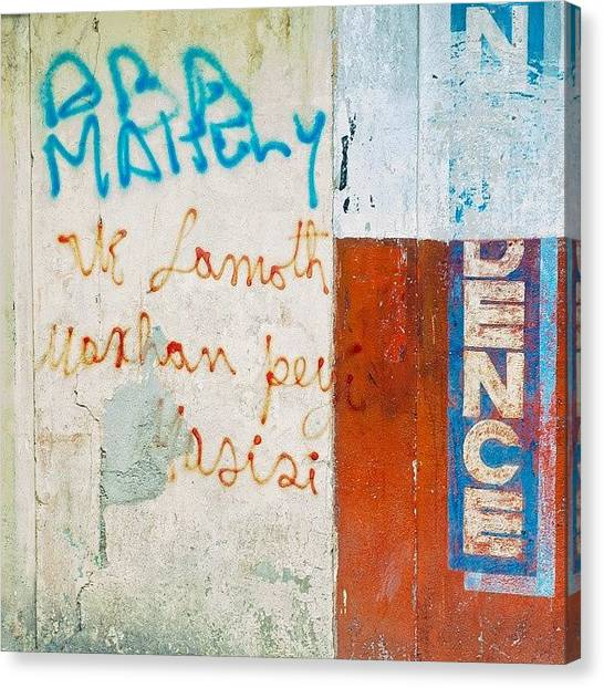 Graffiti Walls Canvas Print - Haiti Wall by Sean Wray