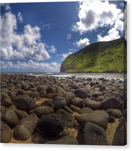 Hawaii Canvas Print - Halawa Valley, Molokai. We Went For The by Brian Governale
