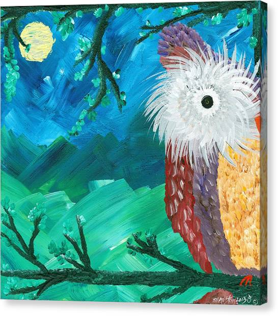 Half-a-hoot 01 Canvas Print