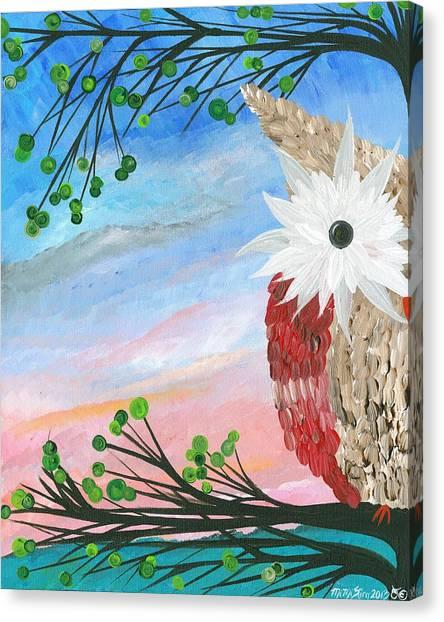 Half-a-hoot 03 Canvas Print