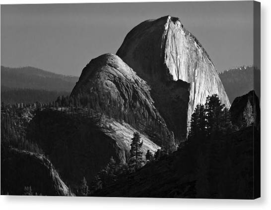 Half Dome At Sunset Canvas Print