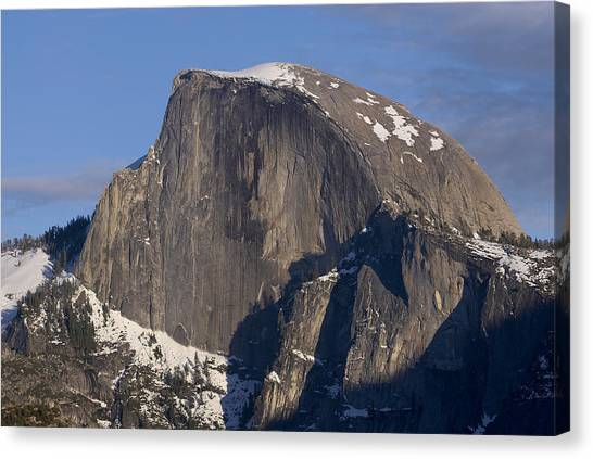 Half Dome Close Up In Winter Canvas Print by Richard Berry