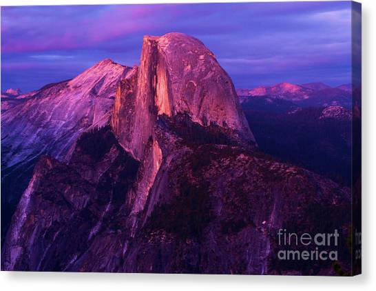 Half Dome Glow Canvas Print