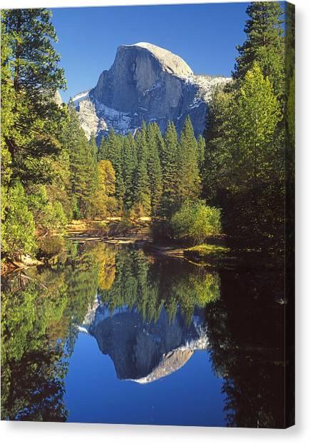 2m6709-half Dome Reflect - V Canvas Print