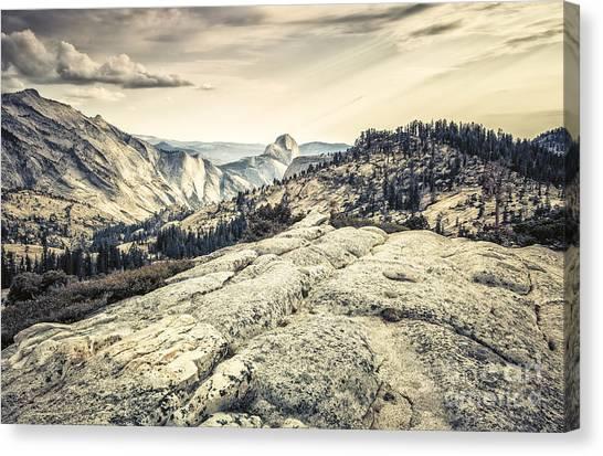 Half Dome View Canvas Print