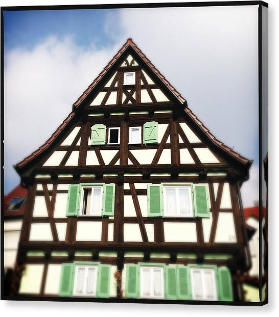 House Canvas Print - Half-timbered House 01 by Matthias Hauser