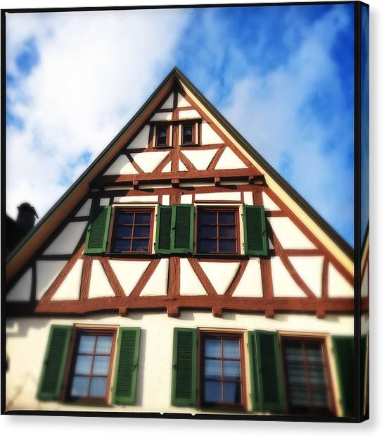 German Canvas Print - Half-timbered House 02 by Matthias Hauser